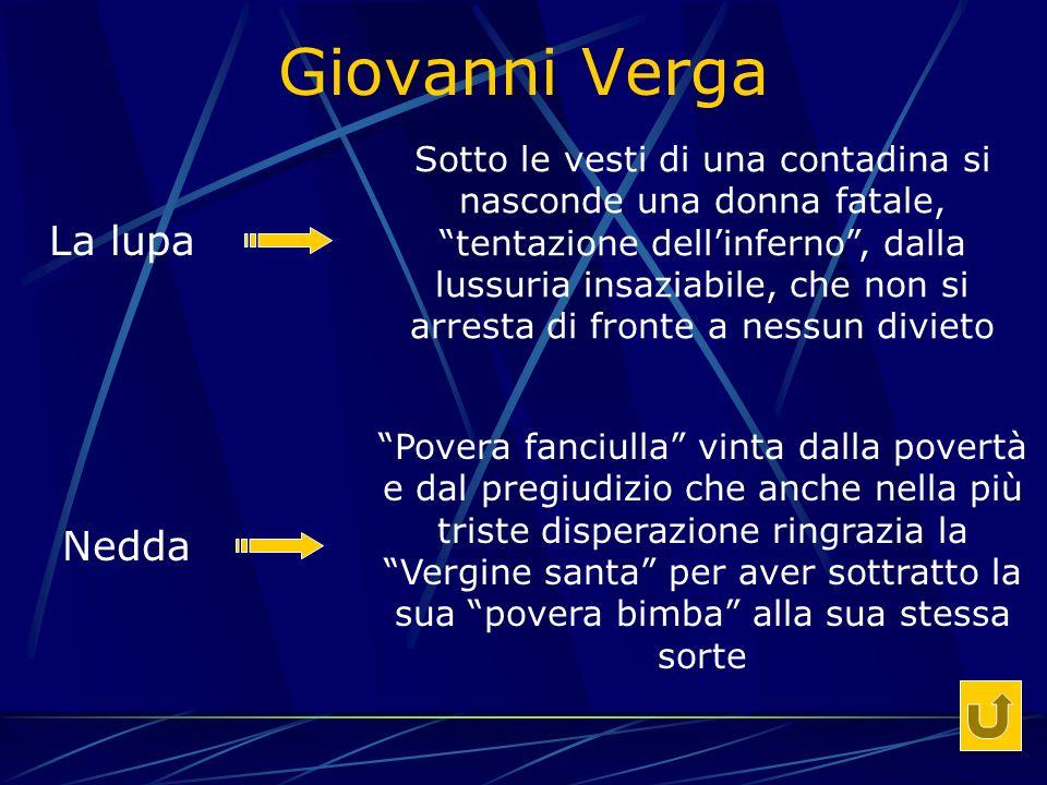 Giovanni Verga La lupa Nedda