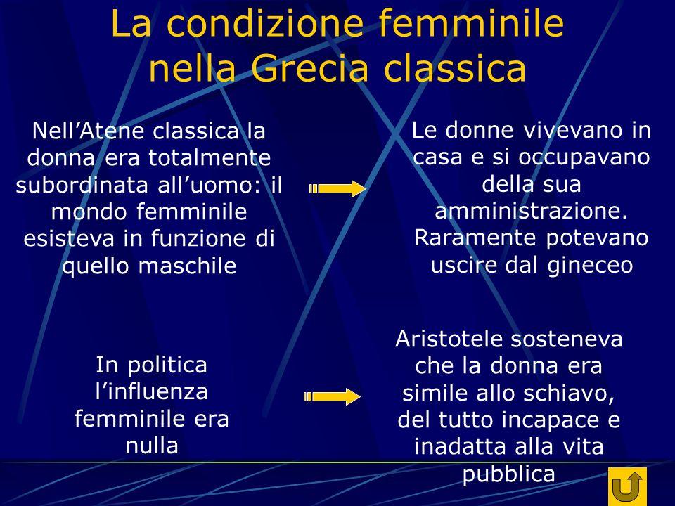 La condizione femminile nella Grecia classica