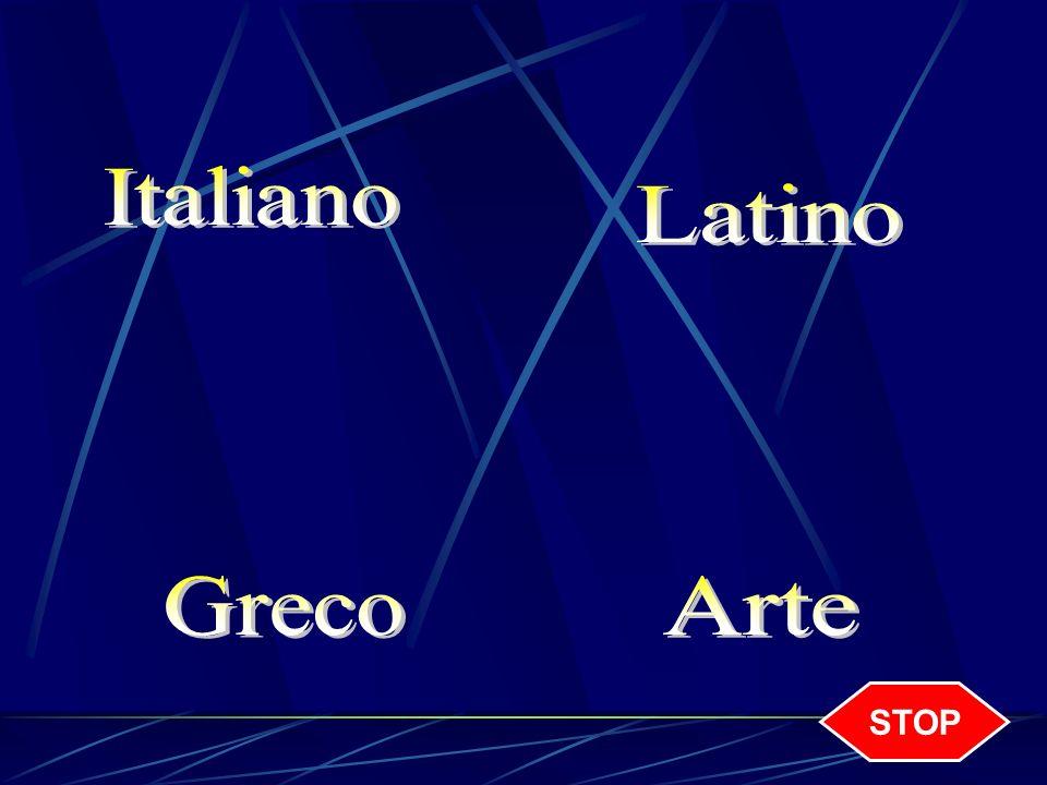 Italiano Latino Greco Arte STOP