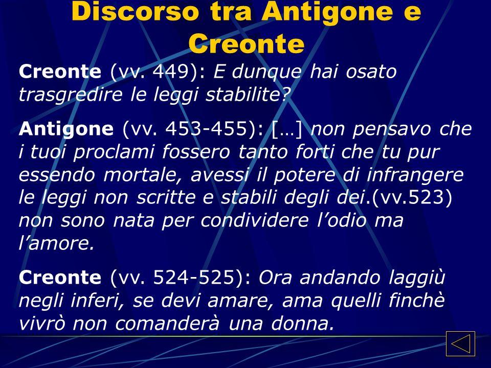 Discorso tra Antigone e Creonte