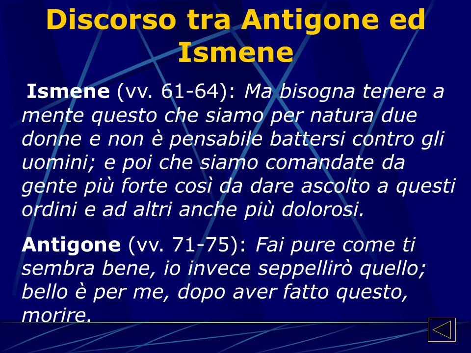 Discorso tra Antigone ed Ismene