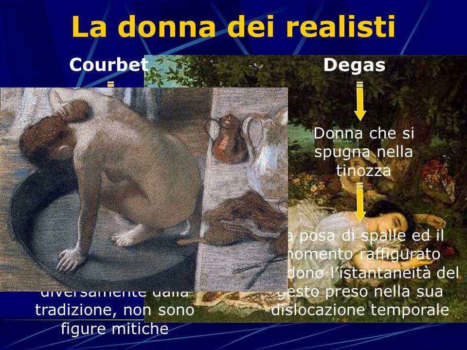 La donna dei realisti Courbet Degas Donna che si spugna nella tinozza