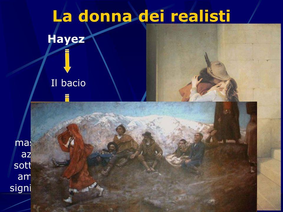 La donna dei realisti Hayez Michetti La figlia di Iorio Il bacio