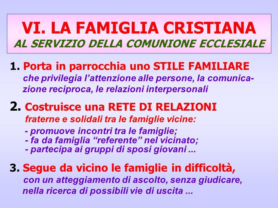 VI. LA FAMIGLIA CRISTIANA AL SERVIZIO DELLA COMUNIONE ECCLESIALE