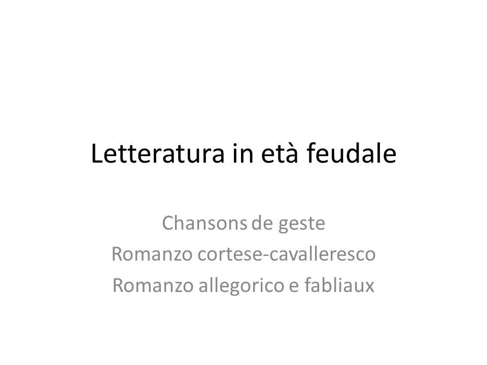 Letteratura in età feudale