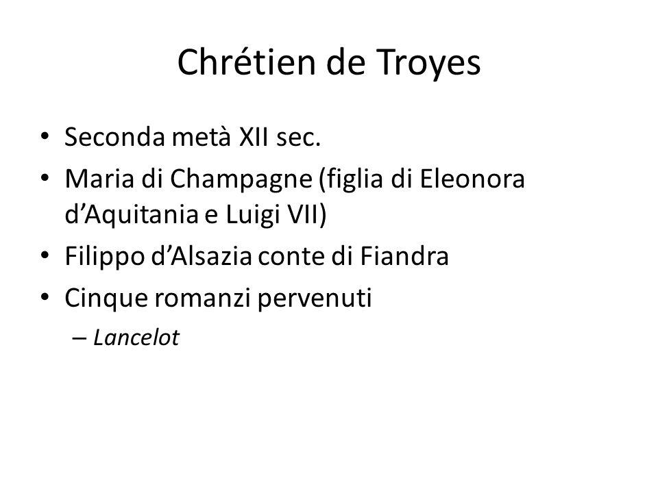 Chrétien de Troyes Seconda metà XII sec.
