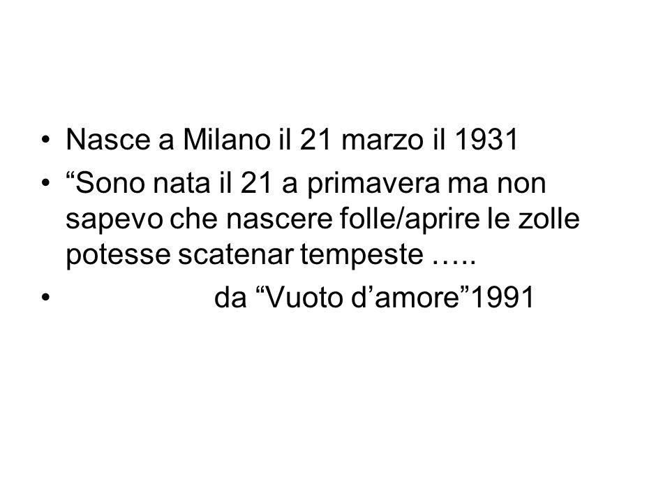 Nasce a Milano il 21 marzo il 1931
