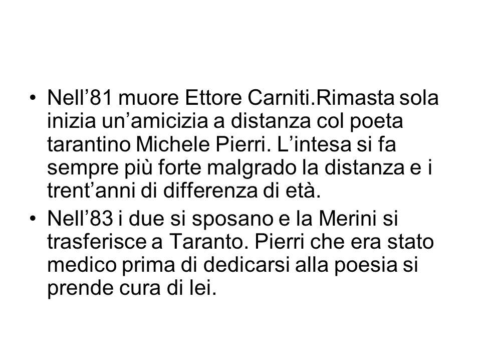 Nell'81 muore Ettore Carniti