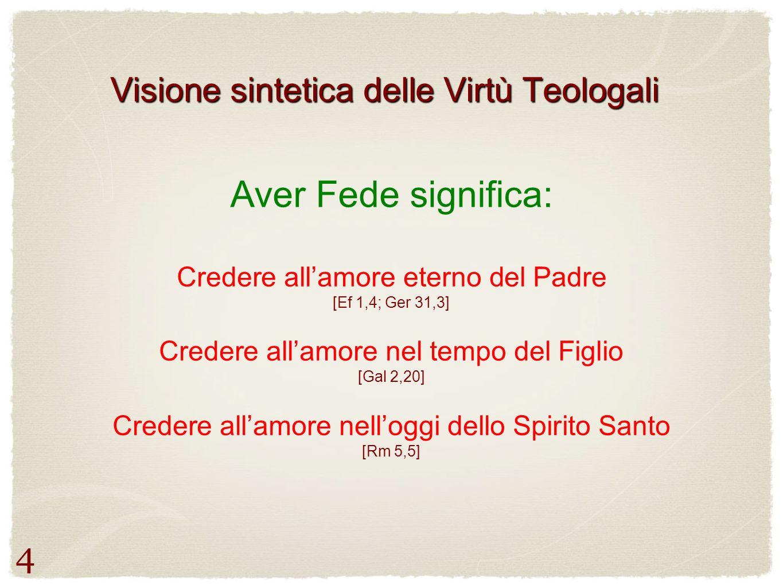 Visione sintetica delle Virtù Teologali