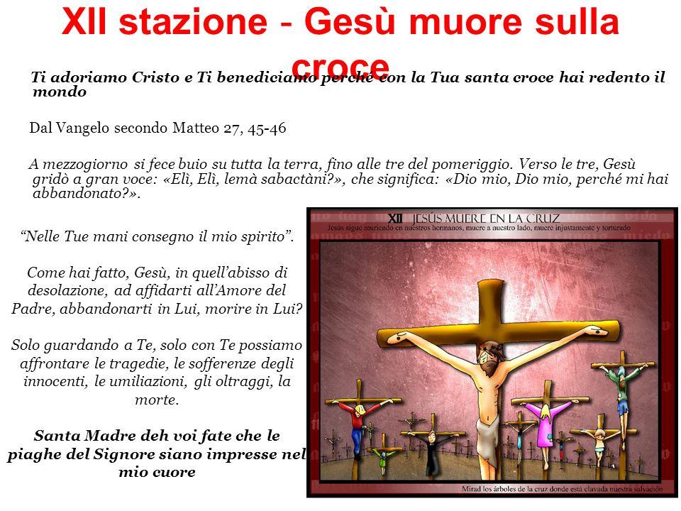 XII stazione - Gesù muore sulla croce