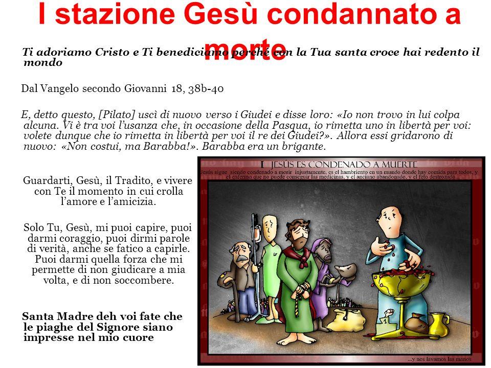 I stazione Gesù condannato a morte
