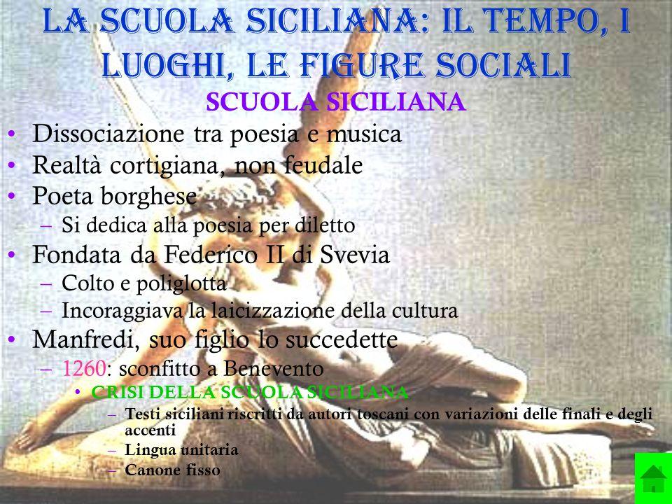 La Scuola siciliana: il tempo, i luoghi, le figure sociali