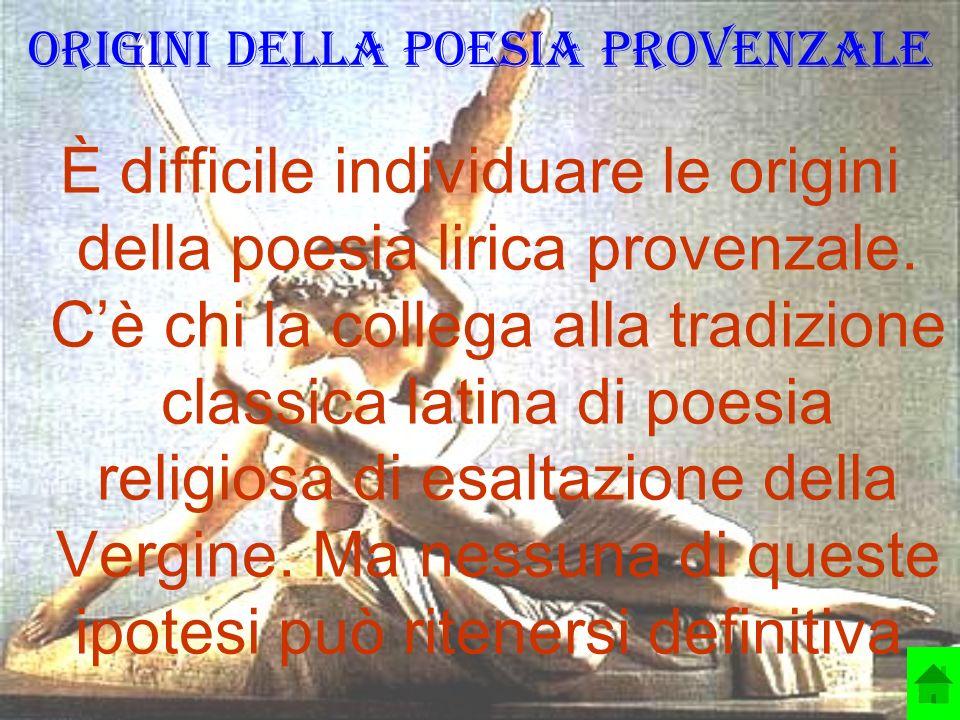 Origini della poesia provenzale