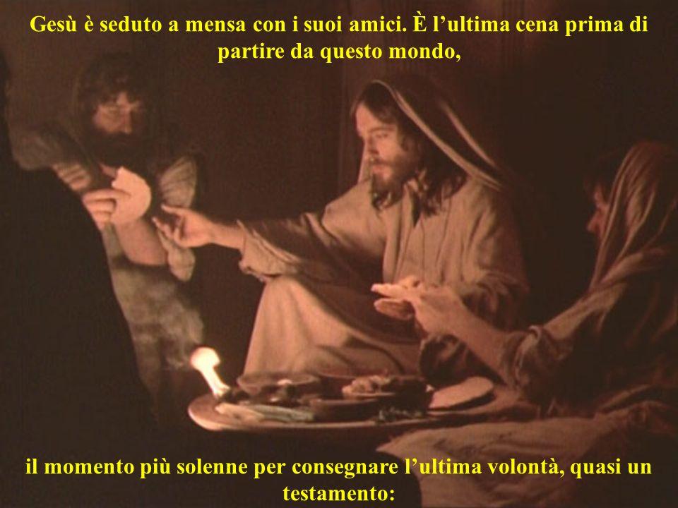 Gesù è seduto a mensa con i suoi amici