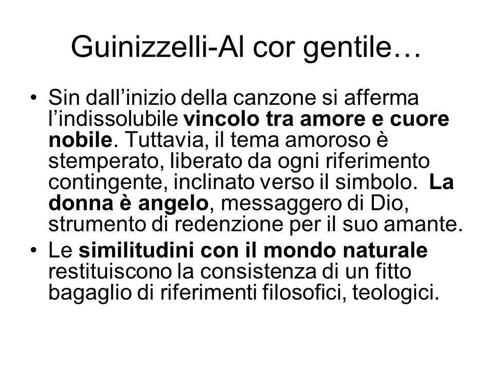 Guinizzelli-Al cor gentile…