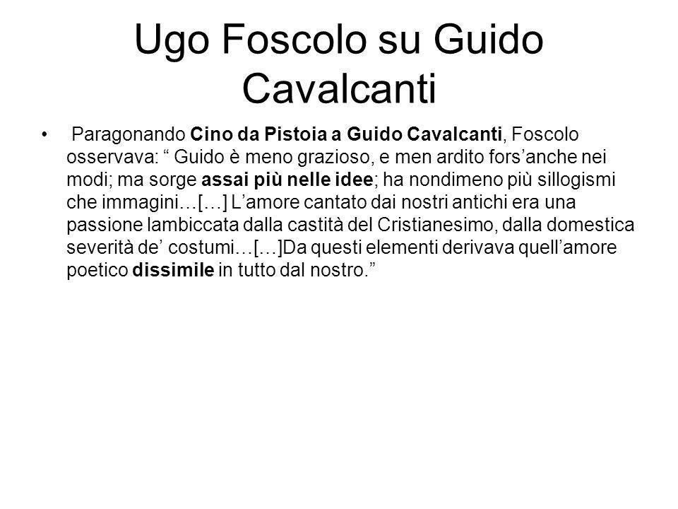 Ugo Foscolo su Guido Cavalcanti