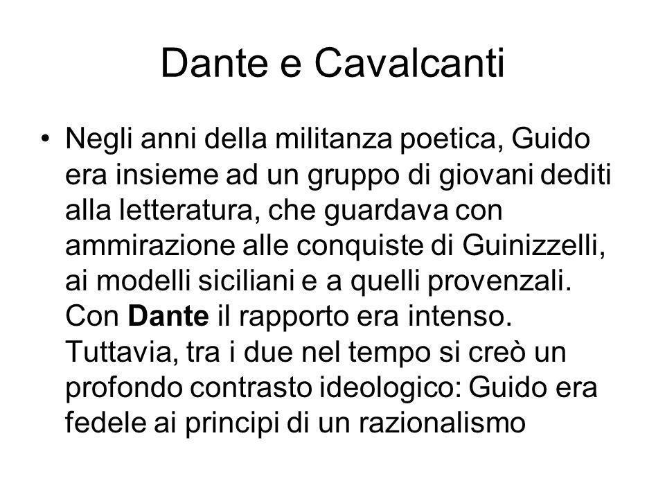 Dante e Cavalcanti