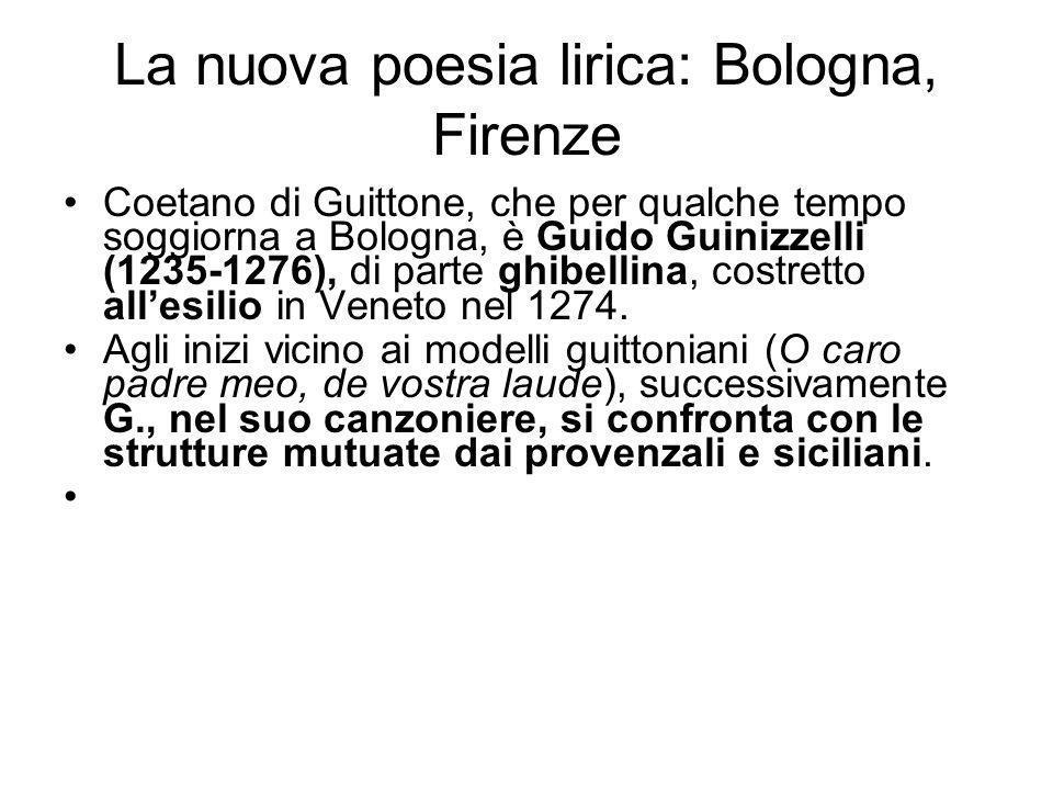 La nuova poesia lirica: Bologna, Firenze
