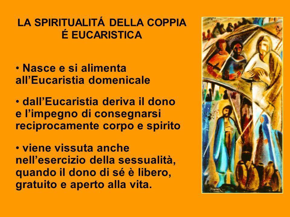 LA SPIRITUALITÁ DELLA COPPIA É EUCARISTICA