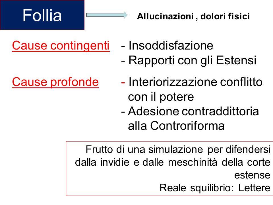 Follia Cause contingenti - Insoddisfazione - Rapporti con gli Estensi