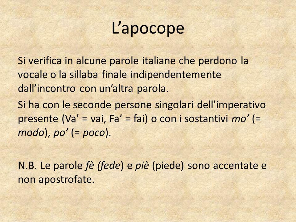 L'apocope