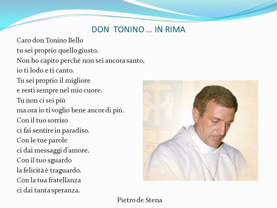 DON TONINO … IN RIMA Caro don Tonino Bello