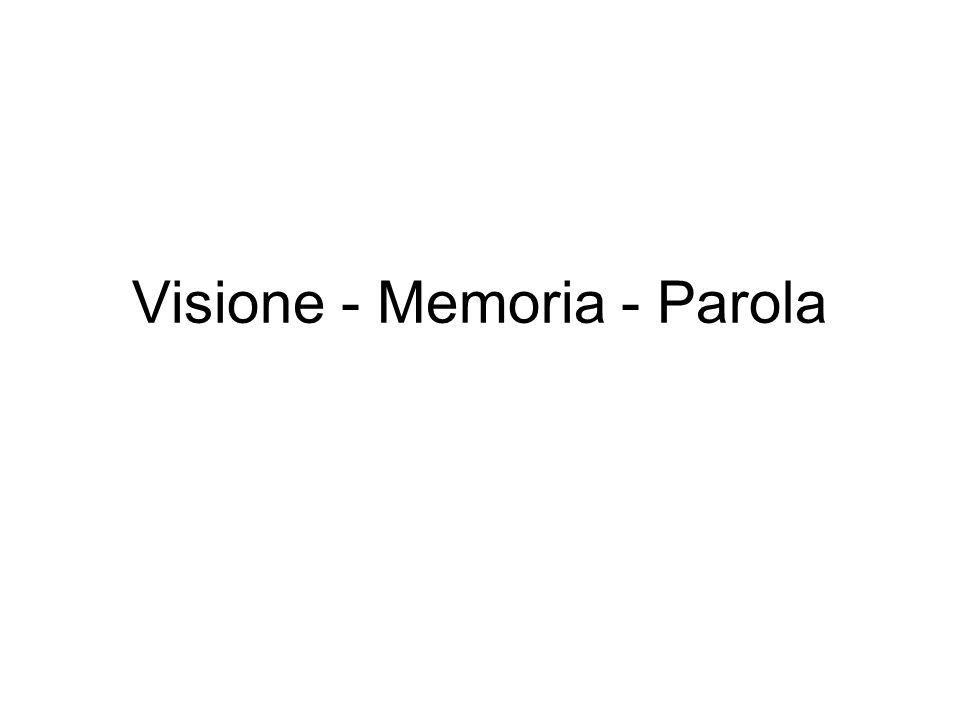 Visione - Memoria - Parola