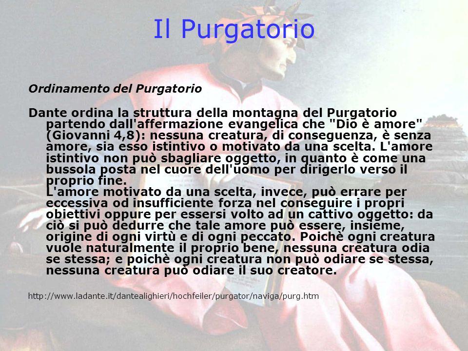 Il Purgatorio Ordinamento del Purgatorio.