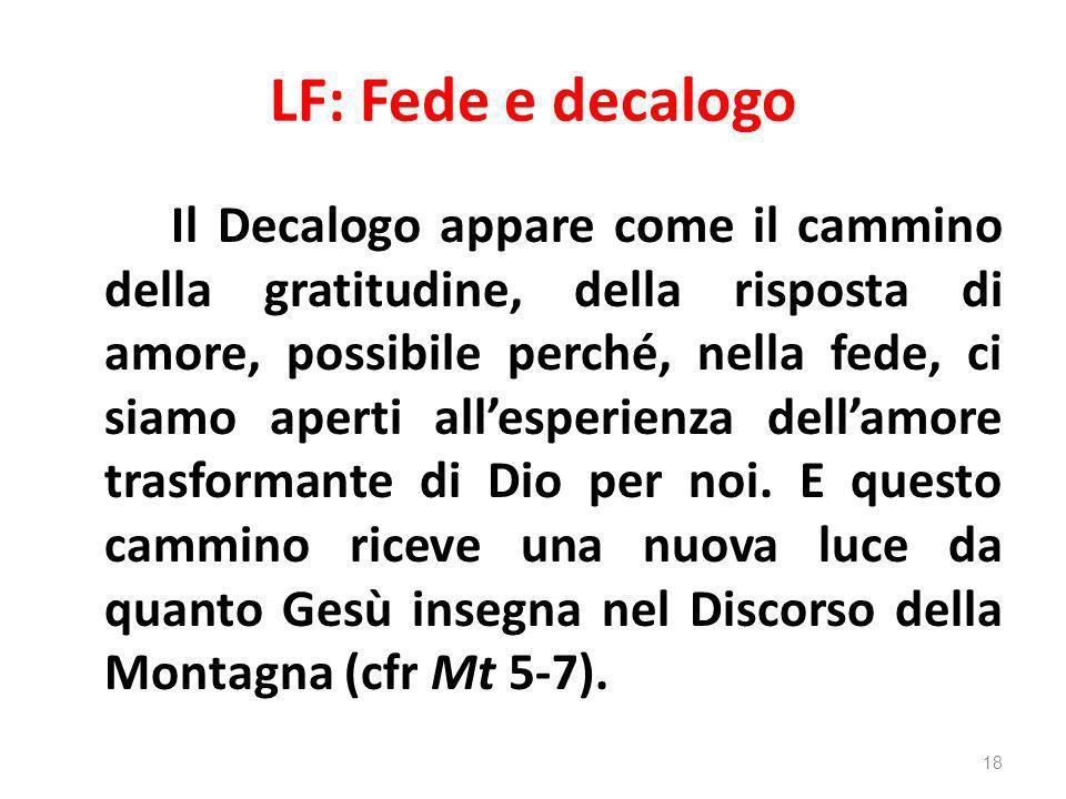 LF: Fede e decalogo