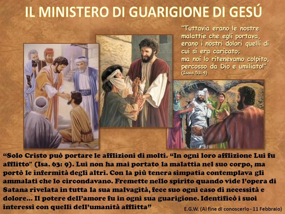 IL MINISTERO DI GUARIGIONE DI GESÚ