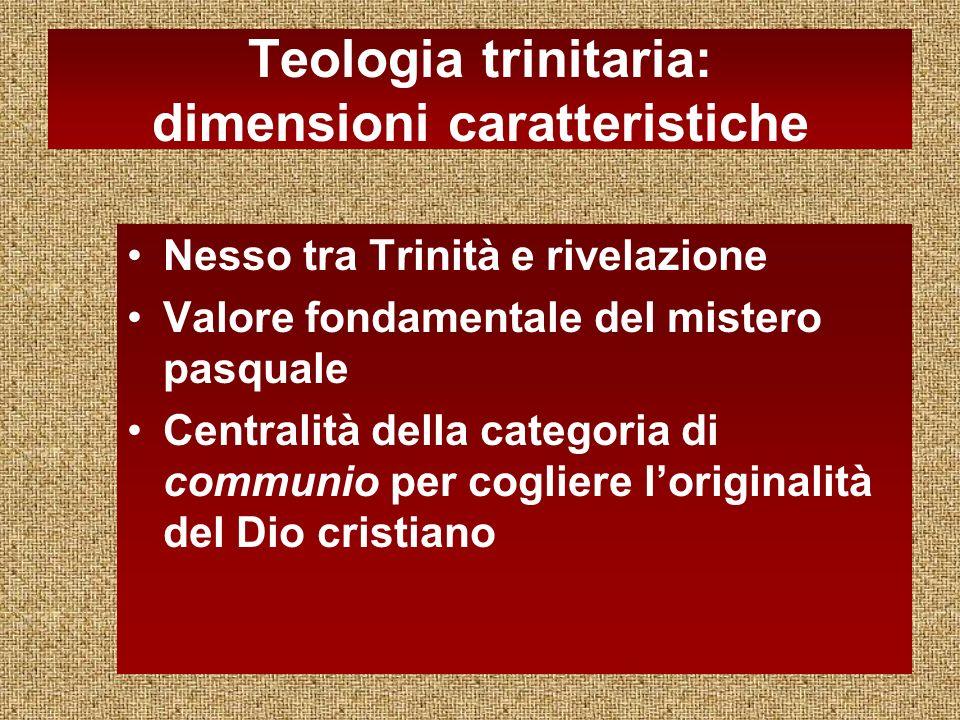 Teologia trinitaria: dimensioni caratteristiche