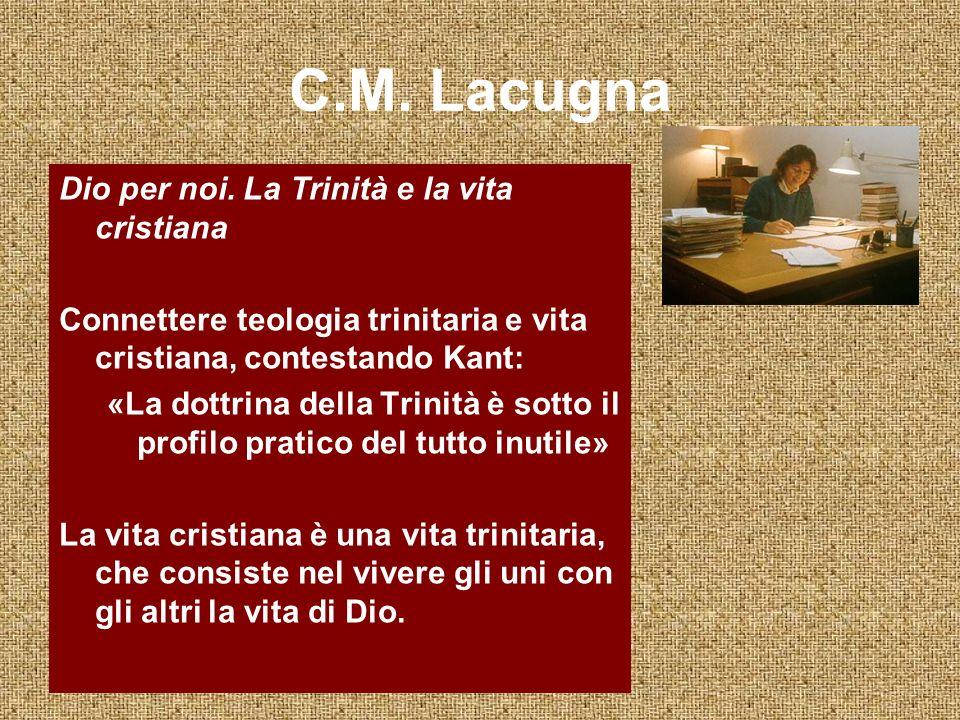 C.M. Lacugna Dio per noi. La Trinità e la vita cristiana