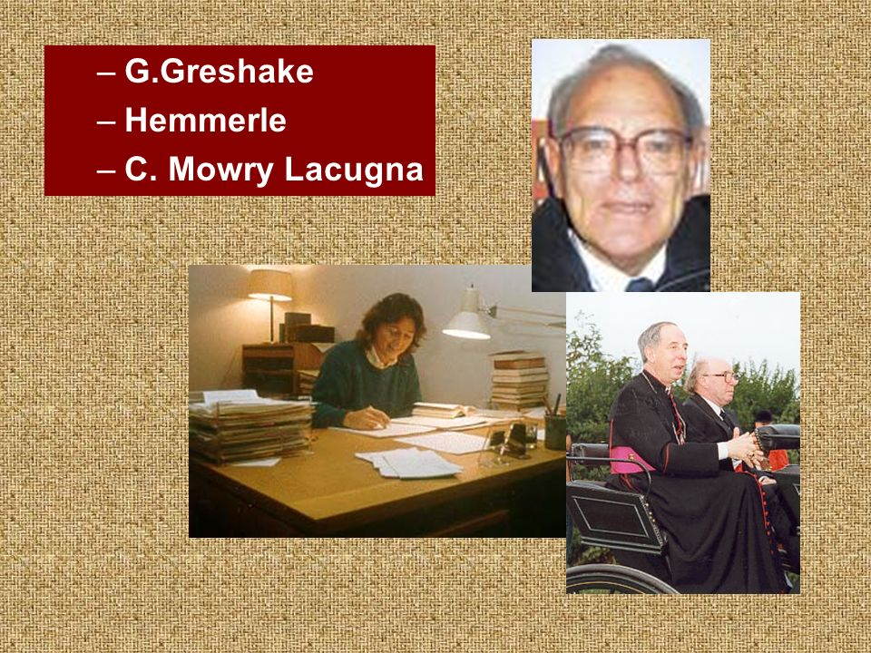 G.Greshake Hemmerle C. Mowry Lacugna