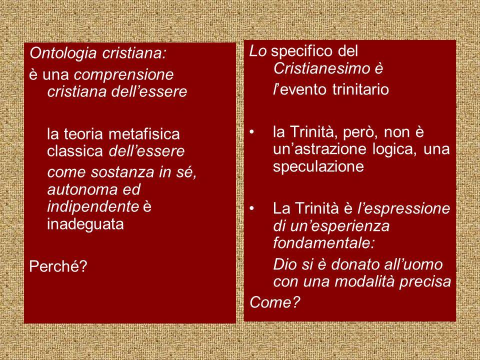 Ontologia cristiana: è una comprensione cristiana dell'essere. la teoria metafisica classica dell'essere.