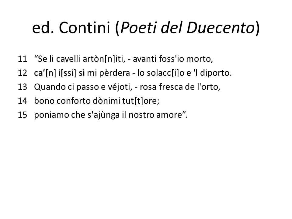 ed. Contini (Poeti del Duecento)