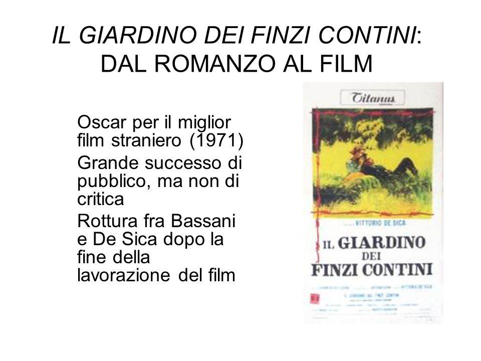 IL GIARDINO DEI FINZI CONTINI: DAL ROMANZO AL FILM