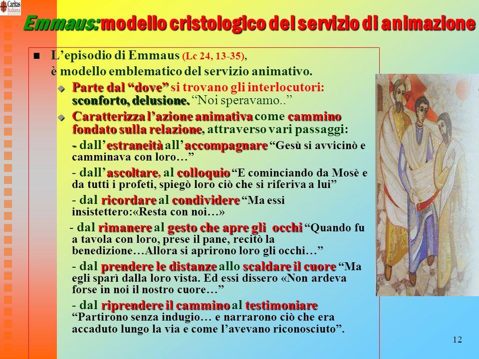 Emmaus: modello cristologico del servizio di animazione