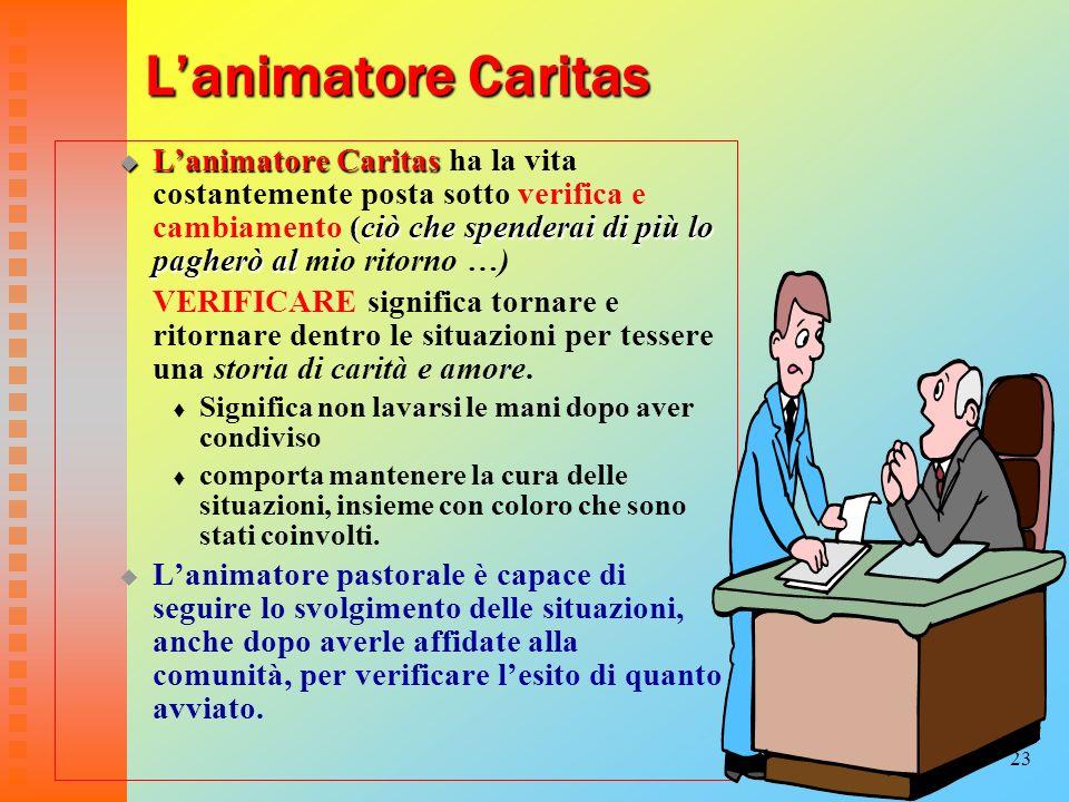 L'animatore Caritas