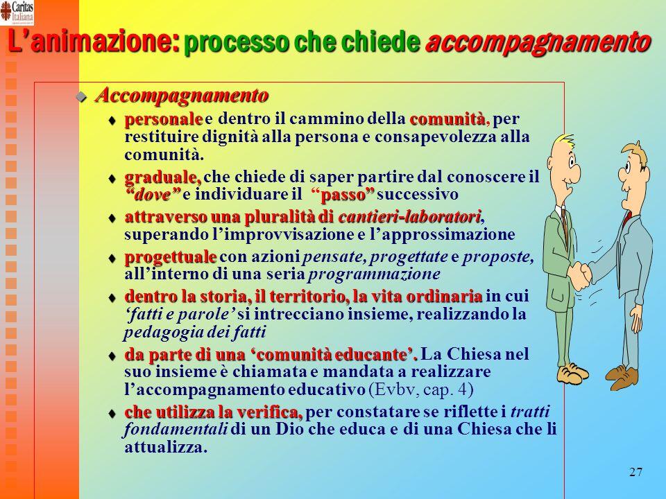 L'animazione: processo che chiede accompagnamento