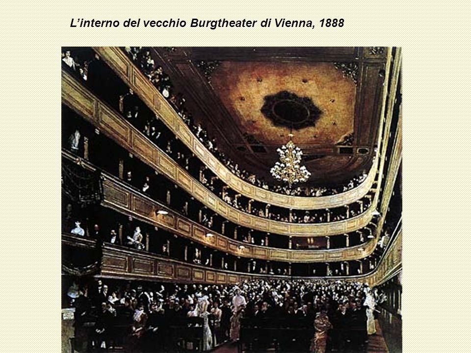 L'interno del vecchio Burgtheater di Vienna, 1888