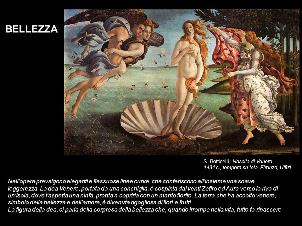 BELLEZZA S. Botticelli, Nascita di Venere. 1484 c., tempera su tela. Firenze, Uffizi.