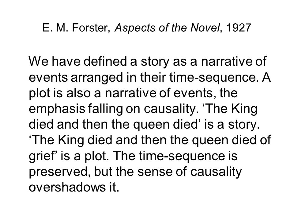 E. M. Forster, Aspects of the Novel, 1927