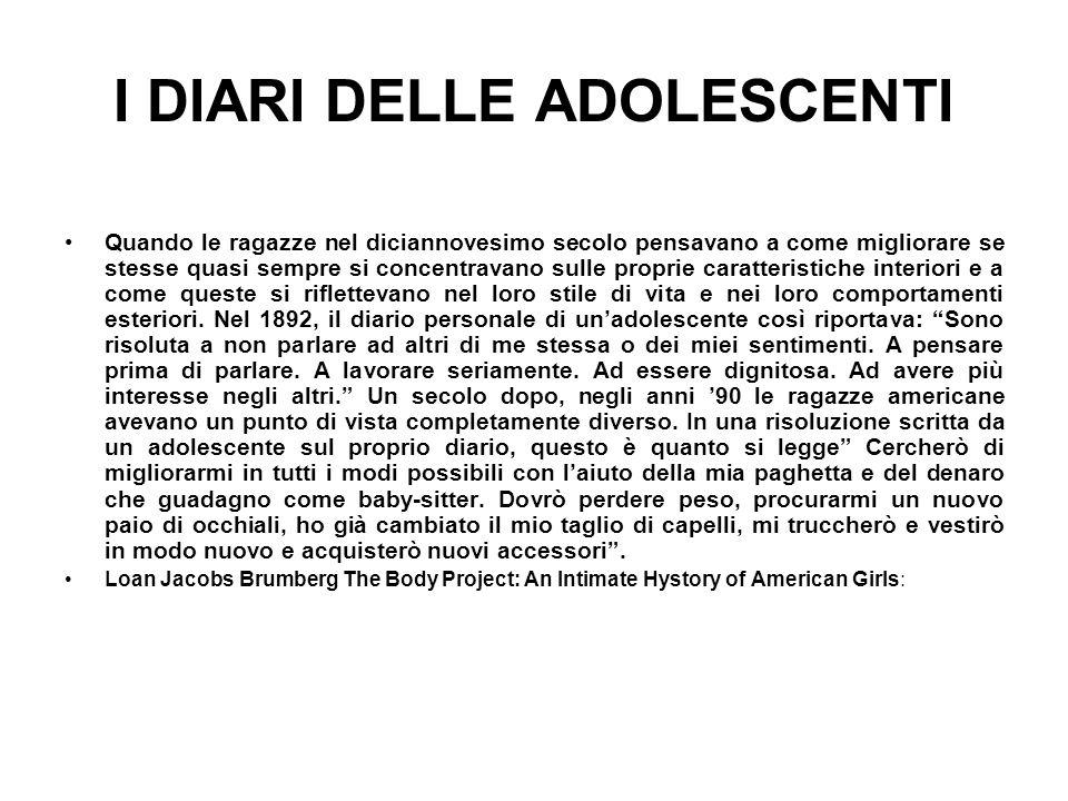 I DIARI DELLE ADOLESCENTI