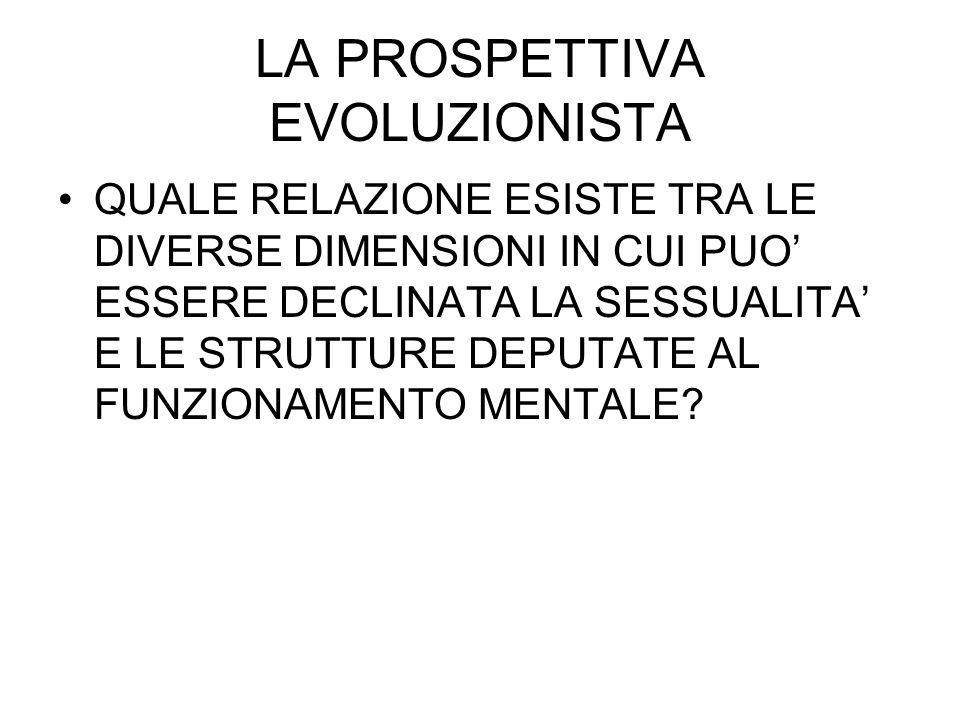 LA PROSPETTIVA EVOLUZIONISTA