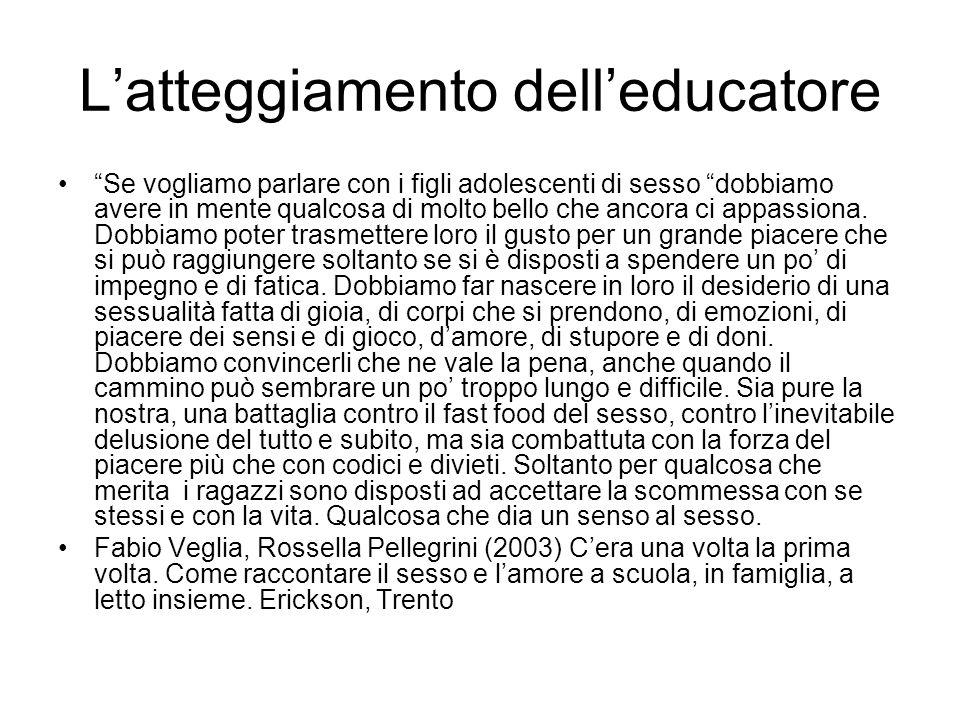 L'atteggiamento dell'educatore