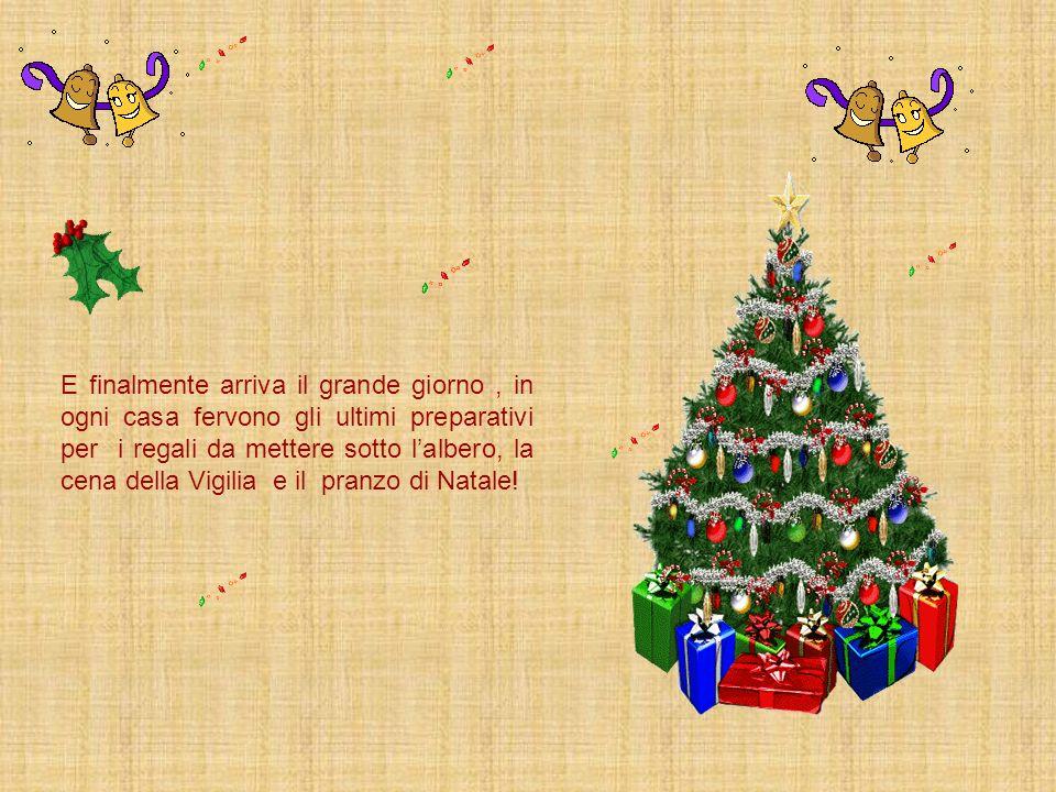 E finalmente arriva il grande giorno , in ogni casa fervono gli ultimi preparativi per i regali da mettere sotto l'albero, la cena della Vigilia e il pranzo di Natale!