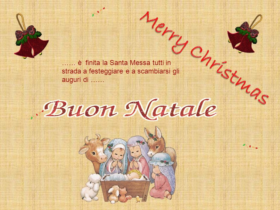 Merry Christmas…… è finita la Santa Messa tutti in strada a festeggiare e a scambiarsi gli auguri di ……
