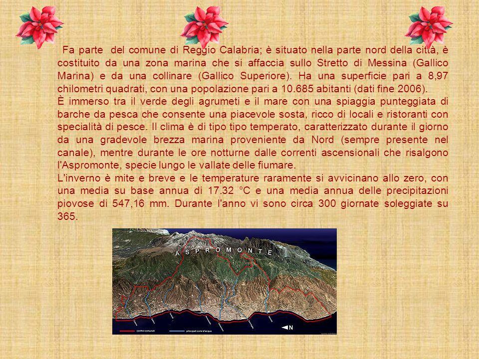 Fa parte del comune di Reggio Calabria; è situato nella parte nord della città, è costituito da una zona marina che si affaccia sullo Stretto di Messina (Gallico Marina) e da una collinare (Gallico Superiore). Ha una superficie pari a 8,97 chilometri quadrati, con una popolazione pari a 10.685 abitanti (dati fine 2006).
