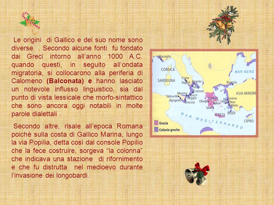 Le origini di Gallico e del suo nome sono diverse