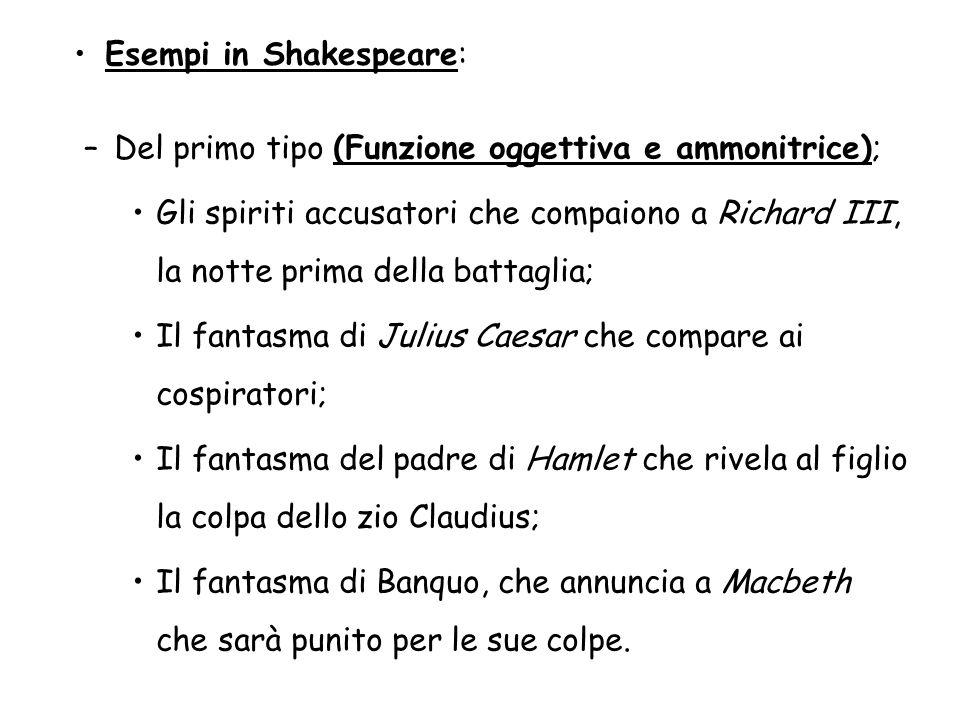 Esempi in Shakespeare: